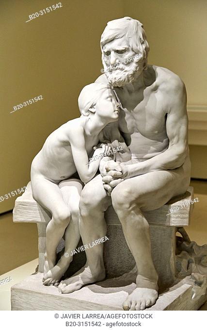 """""""The First Cold"""", 1892, Miquel Blay, National Museum of Catalan Art, Museu Nacional d Art de Catalunya, MNAC, Barcelona, Spain, Europe"