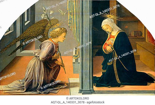 Fra Filippo Lippi (Italian, c. 1406-1469), The Annunciation, c. 1435-1440, tempera on panel