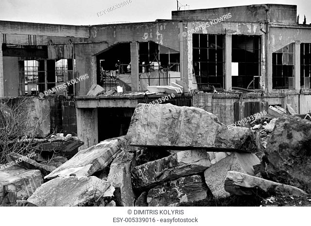 marble factory industrial ruins