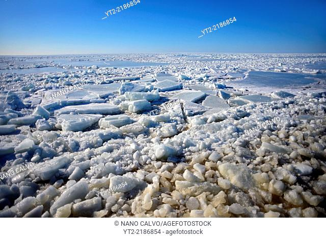 Sampo Icebreaker cruise, an authentic Finnish icebreaker turned into touristic attraction in Kemi, Lapland