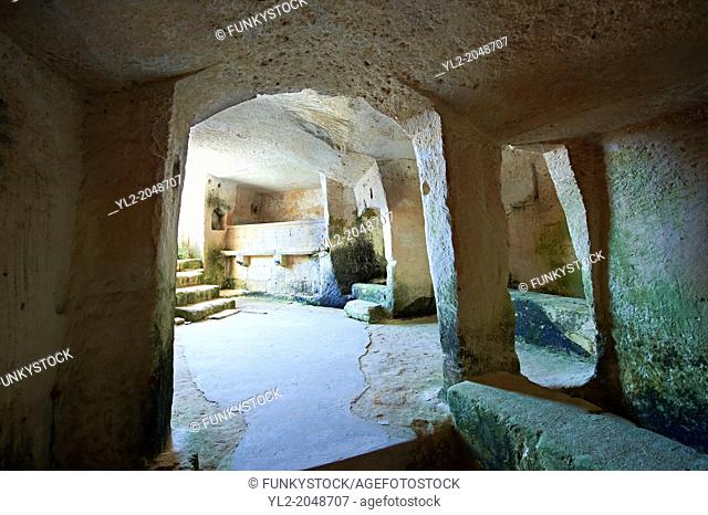 Interior of an ancient cave dwelling, known as a ? Sassi ? , in Matera, Southern Italy. A UNESCO World Heritage Site