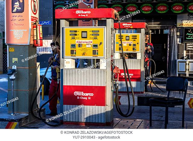 Gilbarco pumps on gas station in Iran