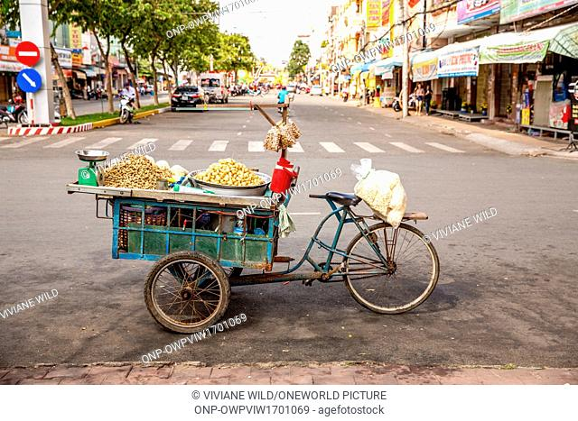Vietnam, C?n Tho, Can Tho, street sales and traders in the streets of C?n Tho capital of the Mekong Delta, largest city of the Mekong Delta