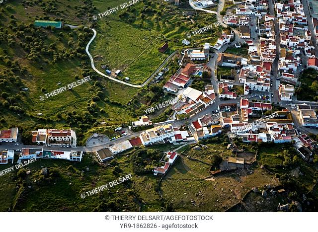 Typical south village, Facinas  Aerial shot  Cádiz aerea  Spain