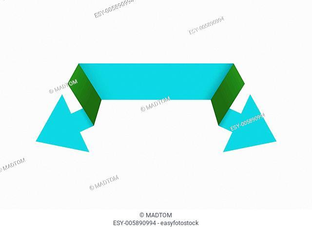 The green double arrow