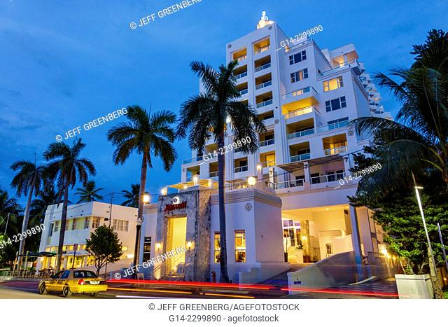 USA. Florida, Miami Beach, Ocean Drive, Marriott South Beach hotel