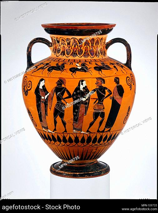Attic Amphora By Exekias Stock Photos And Images Age Fotostock