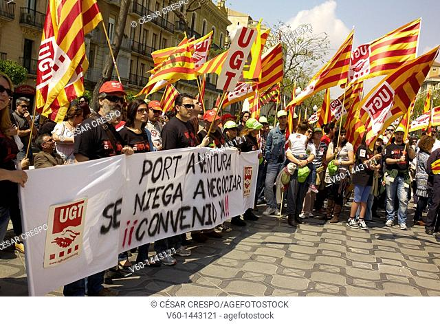 -Demonstration 1st of May in Tarragona- Catalonian (Spain)