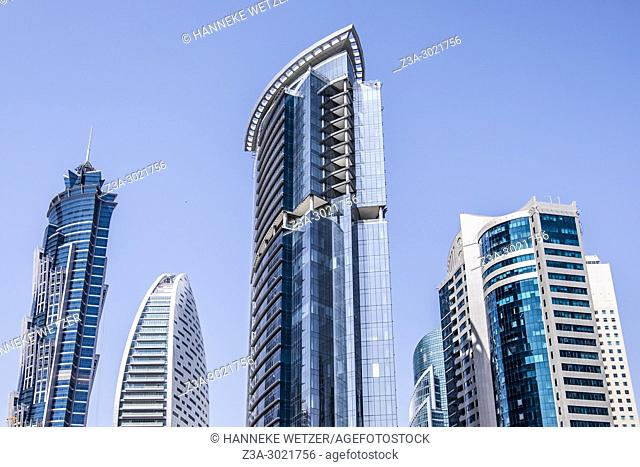 Brand new modern architecture skyline of Business Bay, a business capital as well as a freehold city in Dubai, United Arab Emirates
