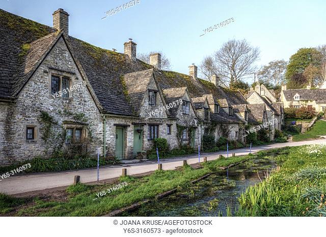 Bibury, Cotswold, Gloucestershire, England, UK