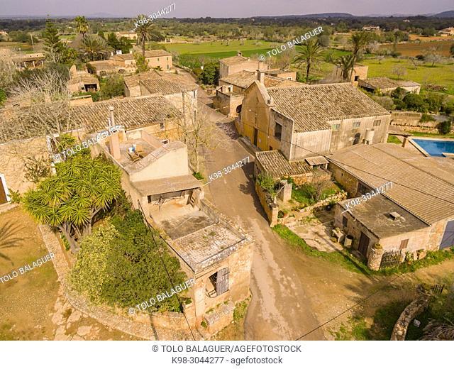 aldea de población, Son Negre, Felanitx, Mallorca, balearic islands, Spain