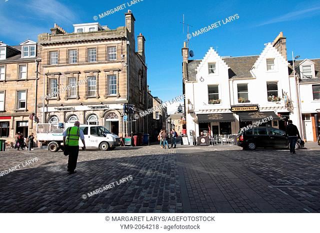Old, historic architecture in the streets of St Andrews, Scotland, Fife, Great Britain, Europe