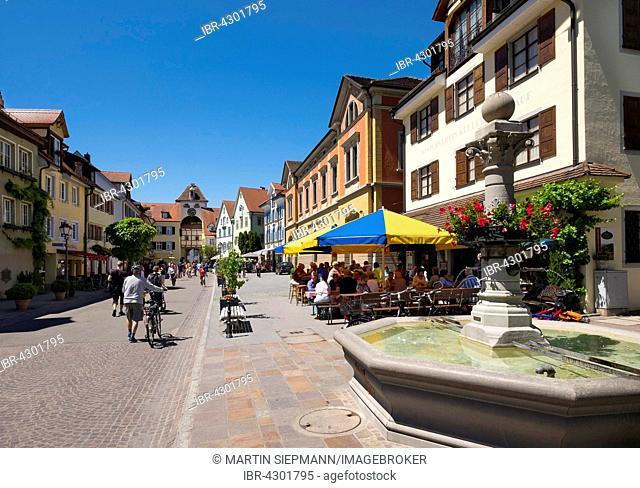 Historic centre, Unterstadtstraße and Unterstadttor, Meersburg on Lake Constance, Bodenseekreis, Upper Swabia, Baden-Württemberg, Germany