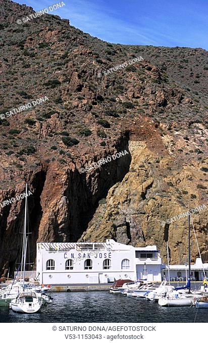marina in San Jose - Cabo de Gata Natural Park  Almeria province  Andalusia  Spain