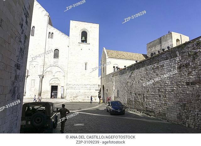 St Nicholas of Bari basilica in Old town of Bari in Puglia, Italy