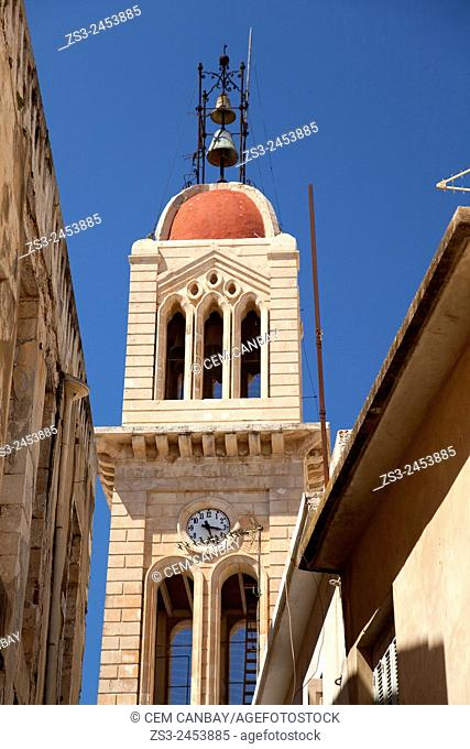 Bell Tower of the Cathedral of Rethymno, Rethymno town, Crete, Greek Islands, Greece, Europe