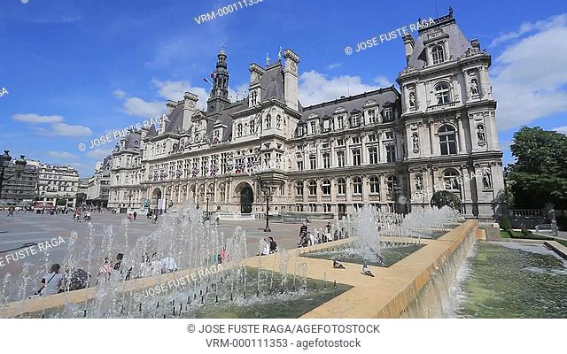 France , Paris City, City Hall Bldg