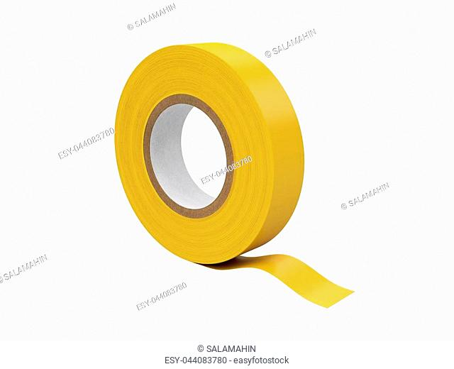Duct tape Isolated on White Background, 3D rendering, illustration