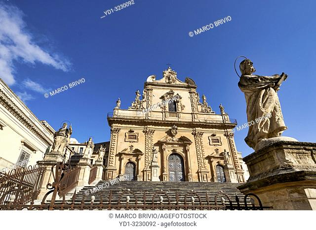 Chiesa di San Pietro Church. Modica Sicily Italy
