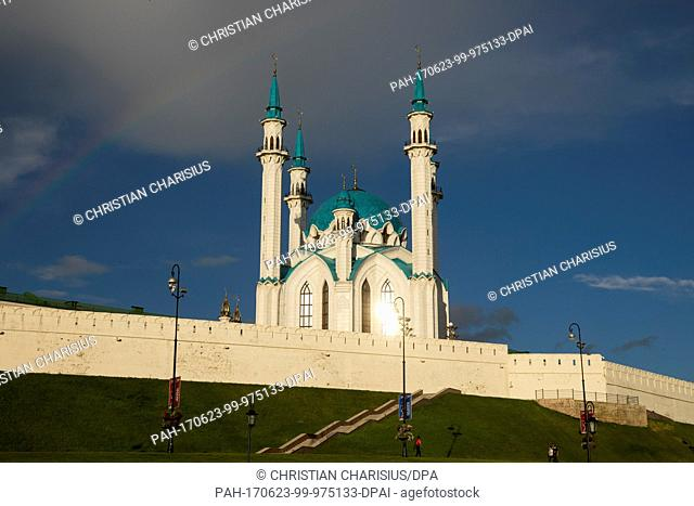 The Qolsharif mosque in Kazan, Russia, 20 June 2017. The eighth most populous city at the river Volga has 1,2 million inhabitants