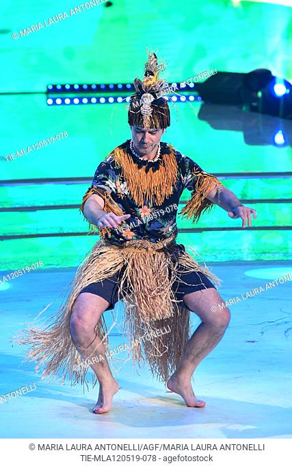 Ettore Bassi during the performance at the tv show Ballando con le setelle (Dancing with the stars) Rome, ITALY-11-05-2019