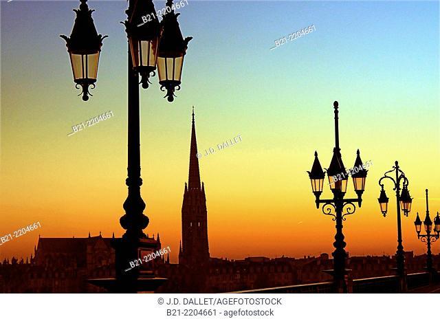 Saint Michel tower at Bordeaux, Gironde, Aquitaine, France