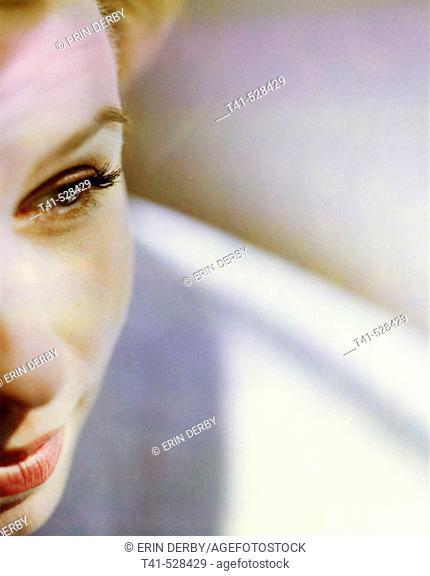 Closeup of a woman. Beauty
