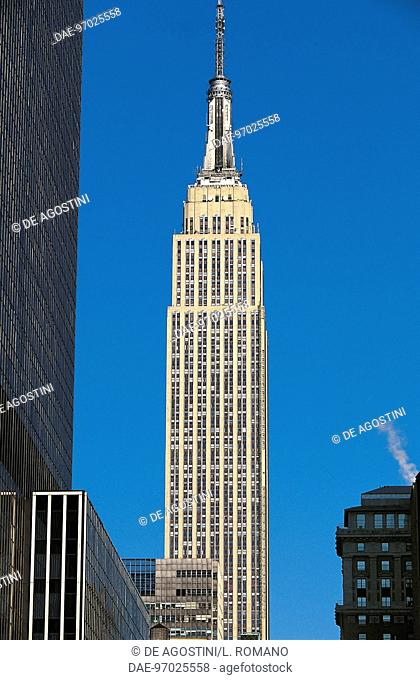 Empire State Building, 1930-1931, designed by Shreve, Lamb and Harmon, Manhattan, New York, United States of America