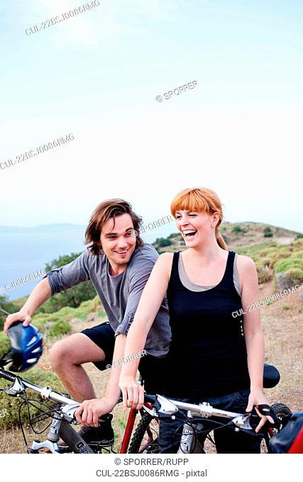 Couple on bike tour