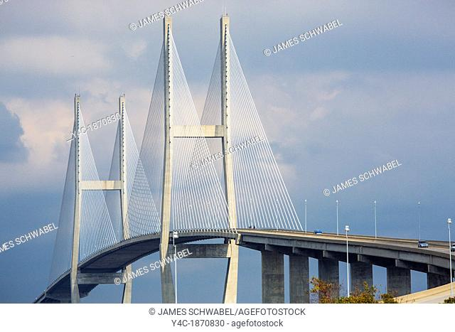 Sidney Lanier Bridge is a cable-stayed bridge carring Route 17 over the Brunswick River in Brunswick, Georgia