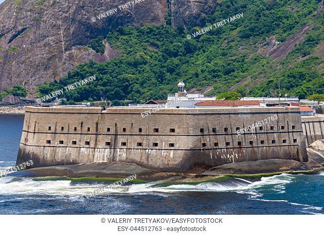 Located in Niteroi city, Rio de Janeiro, Brazil is called Fortaleza Santa Cruz. The historic Santa Cruz Fortress built by the Portuguese to guard the entrance...