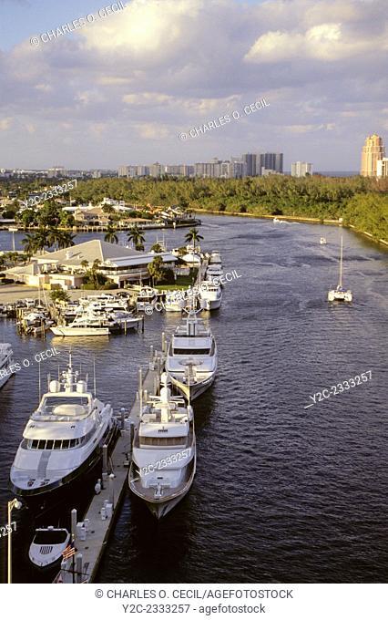Ft. Lauderdale, Florida. Inland Waterway, Coral Ridge Yacht Club