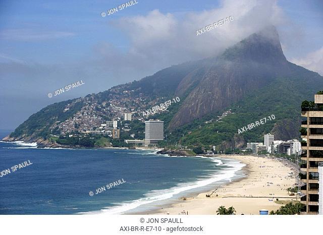 View of Ipanema beach and hotels, Rio de Janeiro,Brazil