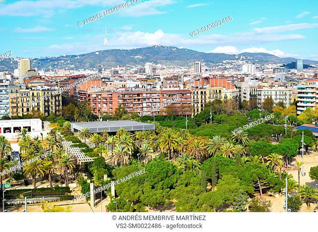Aerial landscapes of Barcelona