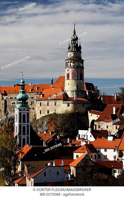 Ceský Krumlov Castle, Cesky Krumlov, UNESCO World Heritage Site, South Bohemia, Bohemia, Czech Republic, Europe