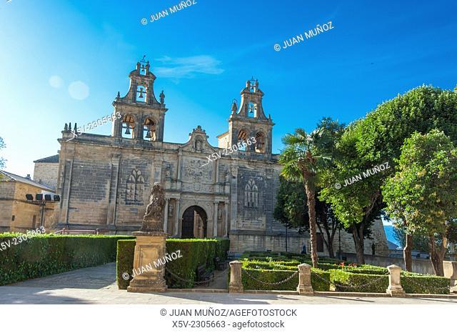 Basilica of Santa Maria de los Reales Alcazares. Renaissance Plaza Vazquez de Molina. Ubeda. Jaen. Andalucia. Spain