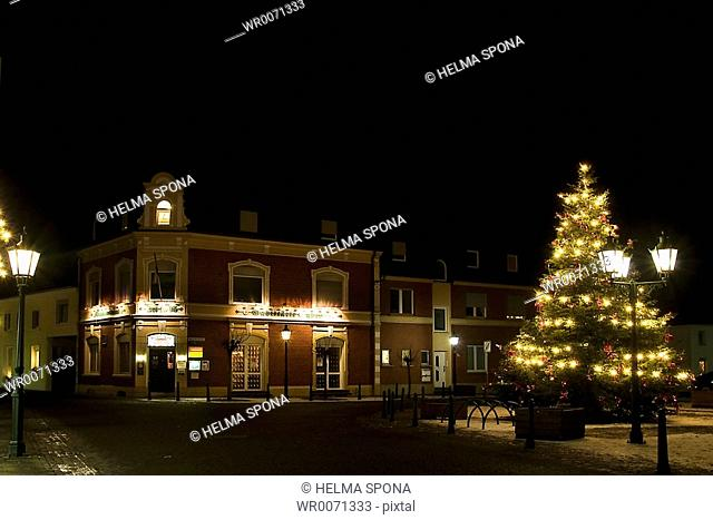 Small market, Aldekerk inAdvent