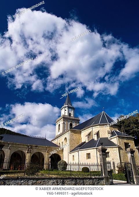 Sanctuary of Nuestra Señora de La Encina, Artzeniega Araba province, Basque country, Euskadi,Spain