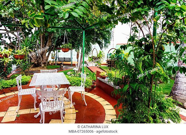 Cuba, Cienfuegos, La Punta, garden, terrace