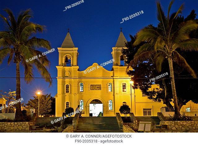 Mission San Jose in the evening, San Jose del Cabo, Mexico