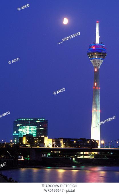 Rhine, tower, Dusseldof