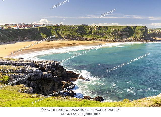 De los Locos Beach in Suances, Cantabria, Spain