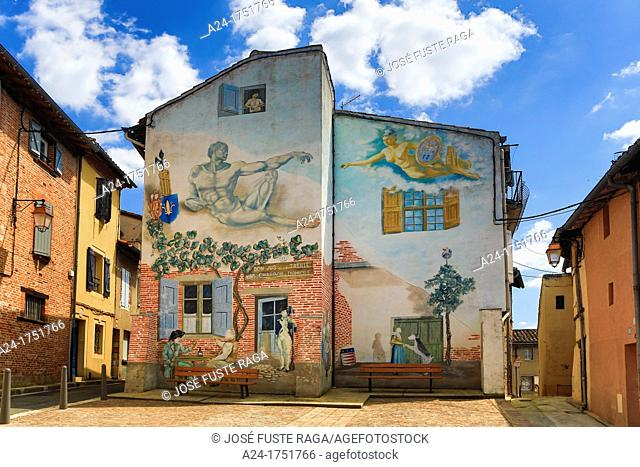 France , Albi City, Old Town , mural