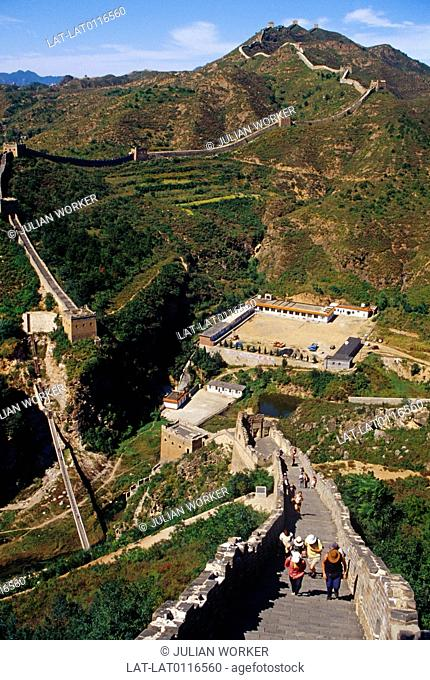 The Great Wall of China is a huge stone and earthen fortification built,rebuilt,and maintained between the 5th century BC and the 16th century to protect the...