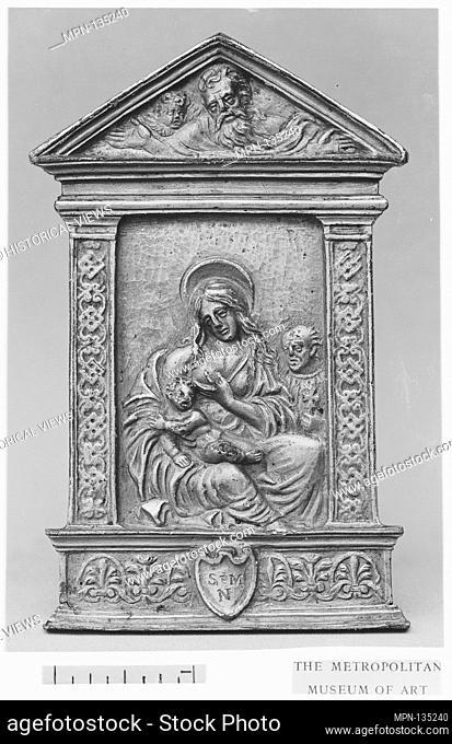 Virgin and Child with St. Joseph. Artist: Moderno (Galeazzo Mondella) (Italian, Verona 1467-1528 Verona); Date: mid-16th century; Culture: Italian