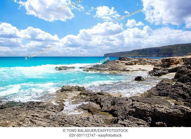 escalo es calo Formentera north rocky coast aqua sea Balearic islands