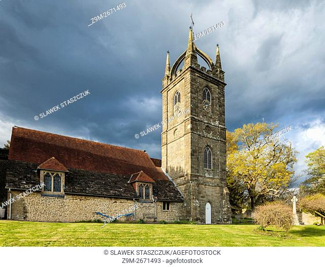 All Hallows church in Tillington, West Sussex, England. Scots Crown spire - unique in Sussex