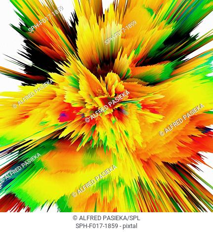 Abstract burst, computer artwork