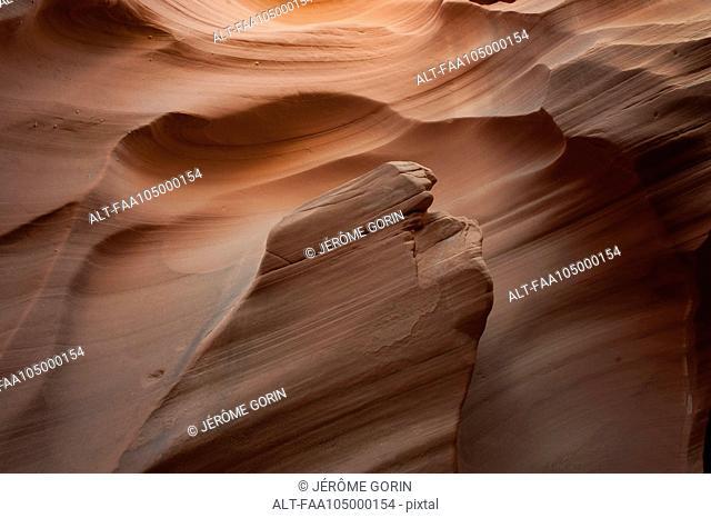 Swirled sandstone rock formation