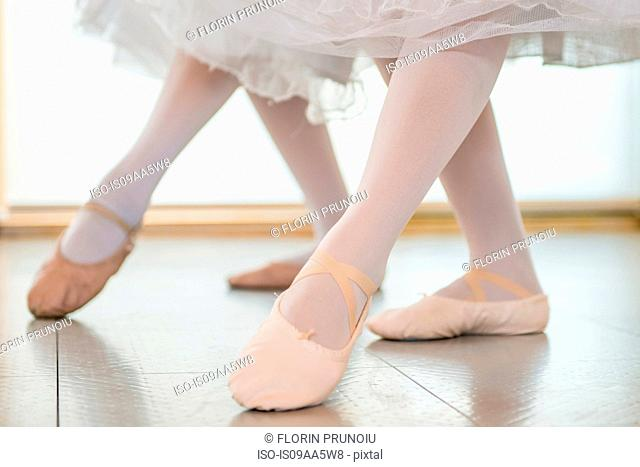 Ballerinas practising together, low section